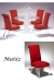 Muniz Vienna Acrylic Upholstered Dining Chairs in Red Seat and Back Cushion