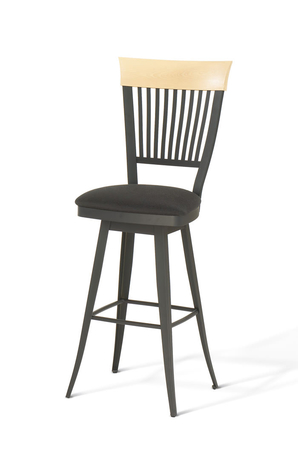 Amisco Annabelle Swivel Stool for Traditional or Country Kitchens