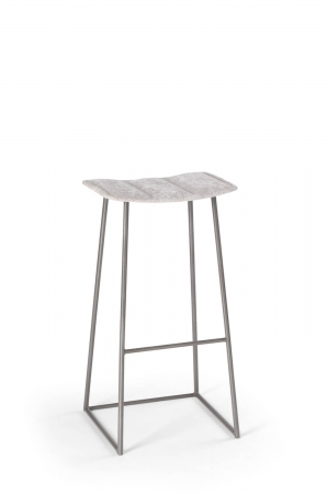 Trica's Palmo Backless Gray Modern Bar Stool with Comfortable Seat