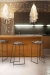 Trica's Stem Modern Metal Bar Stools with Low Back in Modern Kitchen