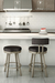 Amisco Barry Swivel Stool in Industrial Kitchen
