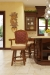 Darafeev's Centurion Luxury Wood Swivel Bar Stools in Modern Country Kitchen with Brown, Gold and Beige