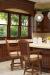 Darafeev's Centurion Luxury Wood Swivel Bar Stools in Modern Country Kitchen