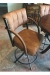 Lisa Furniture's #174 Upholstered Traditional Swivel Bar Stool in Brown and Black