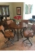 Lisa Furniture's #174 Swivel Barstools in Traditional Dining Room with Pub Table
