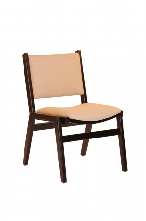Darafeev's Spencer Armless Wood Stacking Chair with Back