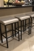 Amisco's Bradley Modern Barstools Shown in Modern Brown Kitchen