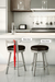 Amisco Bryce Swivel Stool in Modern Kitchen