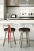 Amisco Bryce Swivel Stool in Industrial Kitchen