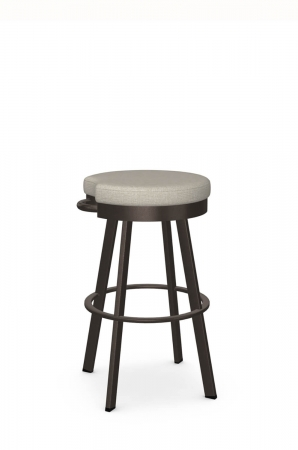 Amisco's Bryce Backless Transitional Swivel Bar Stool in Brown