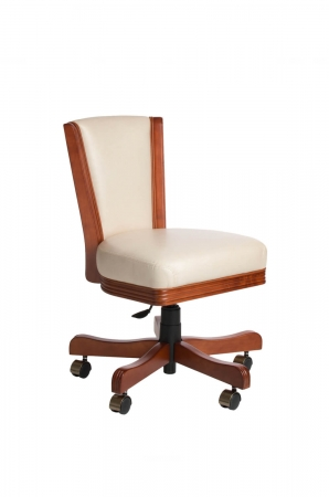 Darafeev's 915 Flexback Upholstered Game Chair with Adjustable Height Lever in Maple Wood