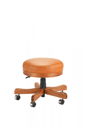 Darafeev's 438 Backless Game Chair Vanity Stool with Adjustable Height Lever Casters