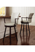 Amisco Cardin Swivel Stool Near Kitchen Island