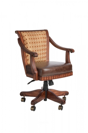 Darafeev's Bellagio Swivel Flexback Game Chair with Arms