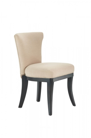 Darafeev's Dara Flexback Armless Dining Chair with Upholstered Seat and Back in Maple Wood