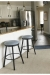 Amisco's Connor Backless Swivel Bar Stools in Customer's Kitchen / Blue and Brown Stools
