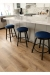 Amisco's Connor Swivel Backless Bar Stools in Customers Modern Kitchen