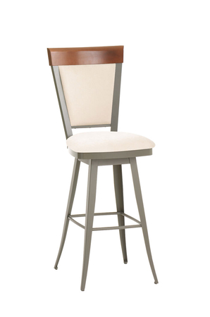 Amisco Eleanor Swivel Stool with Padded Seat and Backrest