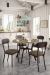 Amisco's Bean Brown Dining Chairs in Farmhouse Dining Room