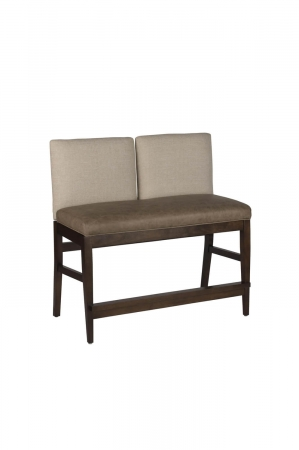 Darafeev's Roncy 2-Seater Flexback Bar Stool Bench
