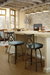Amisco Harp Swivel Stool Near Kitchen Island