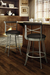 Amisco Historian Swivel Stool in Wood Kitchen