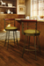 Amisco Historian Swivel Stool in Traditional Kitchen