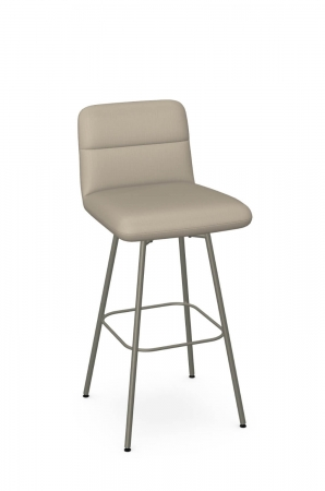 Amisco's Niles Modern Taupe Swivel Bar Stool with Back