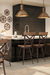 Amisco Kyle Swivel Stool in Industrial Style Kitchen