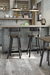 Amisco Lauren Swivel Stool in Rustic Modern Kitchen