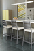 Amisco Level Non-Swivel Stool in Modern Kitchen