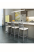 Amisco No-Swivel Stool in Clean Modern Kitchen
