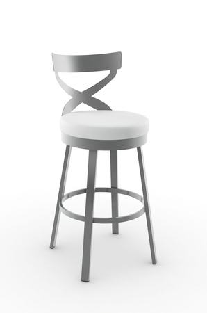 Amisco Lincoln Swivel Stool with Cross Backrest
