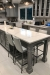 Amisco's Linea Upholstered Stationary Counter Stools in Transitional Gray Kitchen