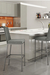 Amisco Linea Non-Swivel Stool for Ultra Modern Kitchens