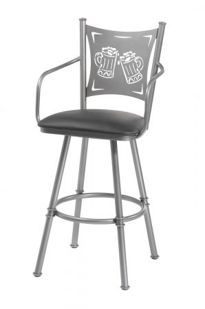 Trica Creation Collection 2 Swivel Stool with Arms and Beer Back