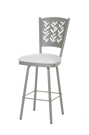 Amisco Mimosa Swivel Stool with Leaf Design Backrest