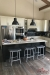 Amisco's Nathan Backless Stool in Customer's Modern Kitchen