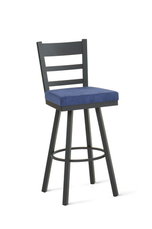Amisco Owen Swivel Stool with Deep Seat