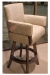 Darafeev's Mod Upholstered Modern Swivel Bar Stool with Padded Arms