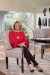 Libby Langdon Sitting on Watermill Luxury Modern Dining Chair with Arms - in Dining Room