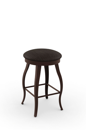 Amisco Pearl Backless Swivel Stool with Cabriole Legs