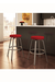 Amisco Reel Backless Swivel Stool with Seat Cushion
