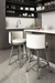 Amisco Refine Swivel Stool in Modern Kitchen