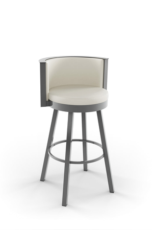 Amisco Refine Swivel Stool with Low Back