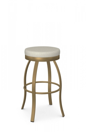 Amisco's Swan Elegant Backless Swivel Bar Stool in Gold