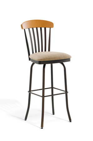 Amisco Tammy Swivel Stool with Tall Back and Deep Seat