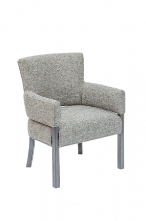 Darafeev's Mod Maple Modern Upholstered Arm Chair in Gray