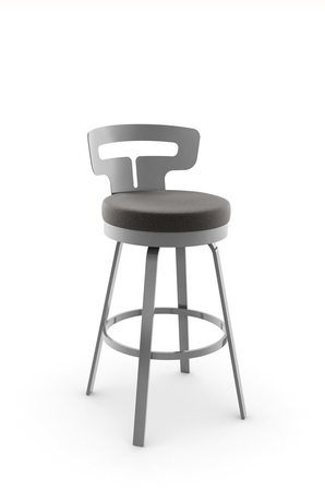 Amisco Times Modern Swivel Stool with Low Back