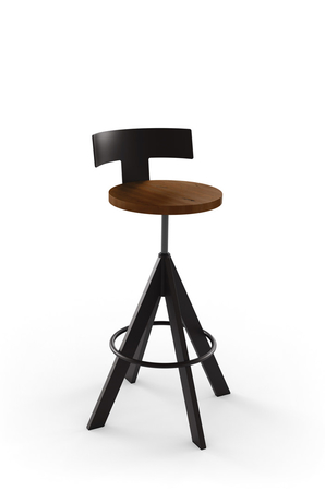 Amisco Uplift Adjustable Stool with Low Back
